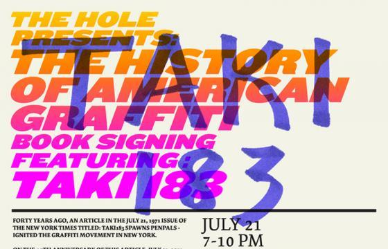 The History of American Graffiti Book Signing with TAKI 183 at The Hole NYC